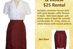 Cinnamon Straight Skirt w/ Blouse