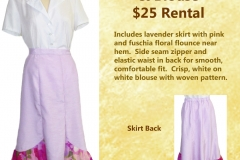 Lavender Flared Skirt w/ Blouse