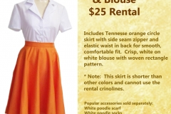 Orange Circle Skirt w/ Blouse