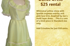 Pineapple Yellow Party Dress