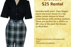 Plaid Crop Pants w/ Blouse