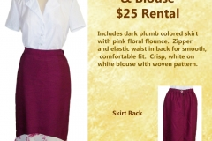 Plumb Straight Skirt w/ Blouse