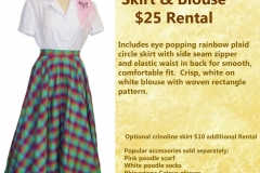 Rainbow Plaid Circle Skirt w/ Blouse
