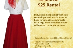 Red Circle Skirt w/ Blouse