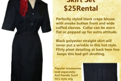 Rizzo Black Pencil Skirt w/ Blouse