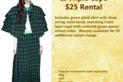 Green Plaid Victorian Lady set