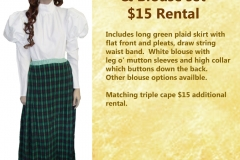 Green Plaid Skirt with Blouse