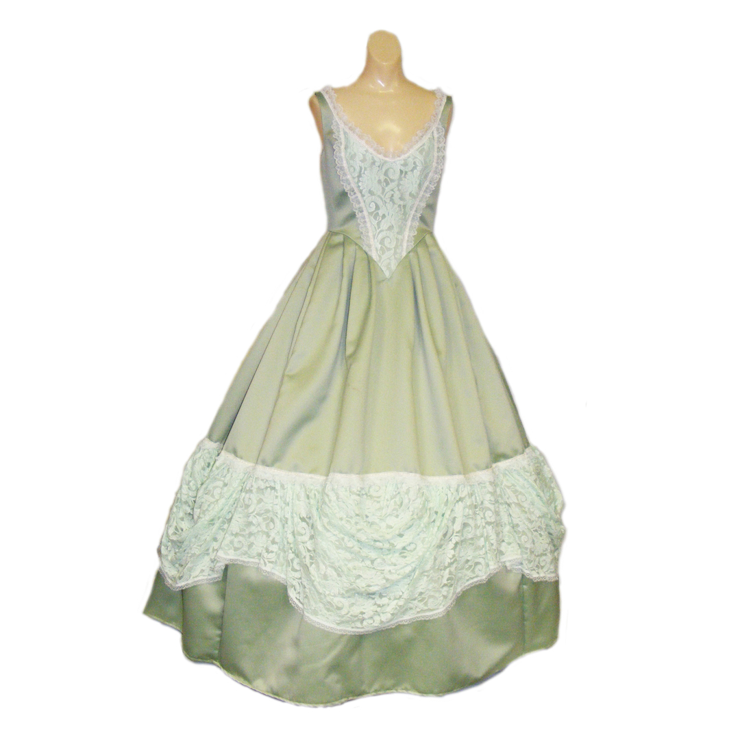 Belle Gown – Green #1 – Beauty and the Beast Costumes, Chattanooga
